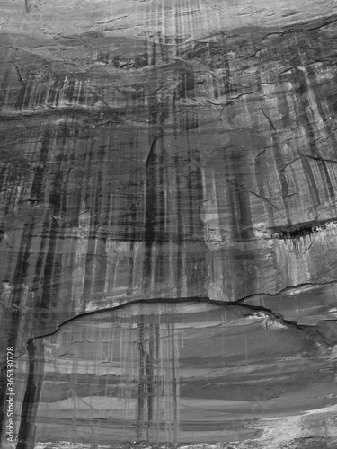 Striations in rock wall, Zion National Park Canvas Print