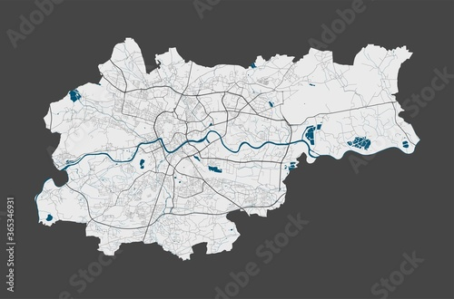 Fotomural Krakow map