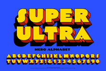 An Extra Bold Font With Comic Book Hero Styling