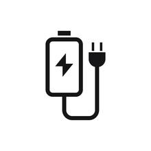 Charger Vector Icon Logo Design