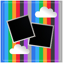 Photo Frame In Kids Scapbook Memorty Book