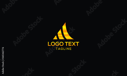 Financial accounting icon logo concept Canvas Print