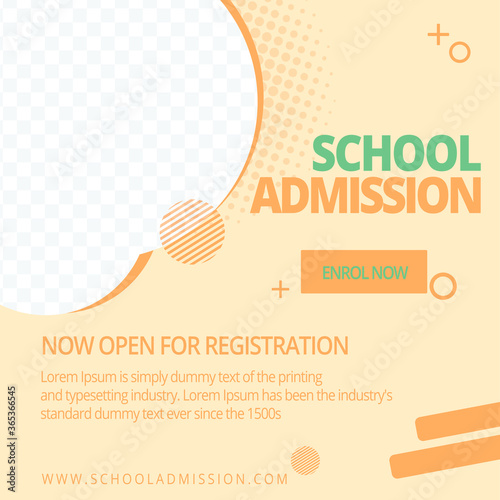 Fotografía School admission social media post template