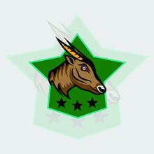 Anoa Logo Esport, Good For Icon Or Symbol