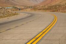 Desert Road. Traveling. Closeu...