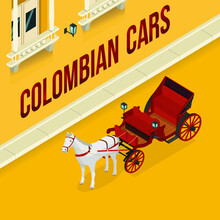 Illustration Of Colombian Cars...