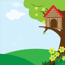 Birdhouse On Tree