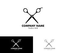 Scissor Logo, Barber Logo, Bar...