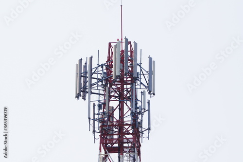 Telecommunication tower of 4G and 5G cellular Canvas-taulu