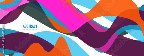 Obraz Fluid wave colorful abstract background. Dynamic colorful vibrant vector design - fototapety do salonu