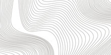 Abstract Gray Wavy Lines Backg...
