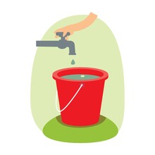 Filling Water In Bucket