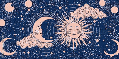 Fotografia Magic banner for astrology, divination, magic