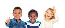 Three Different Children Toget...