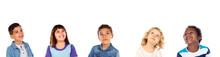 Pensive Children Thinking