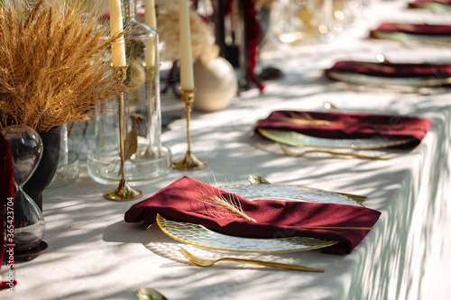 Stampa su Tela Luxury festive served table banquet catering