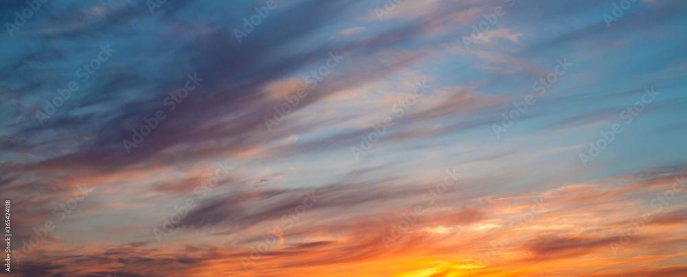 Fototapeta sunset in the sky