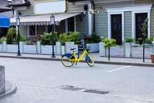 A Bicycle Is Parked. Bicycle P...