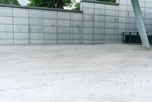Empty Ground In Modern Street ...