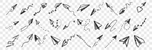 Hand Drawnpaper Planes Doodle ...