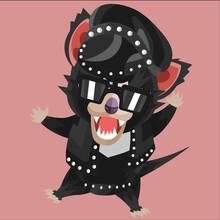 Tasmanian Devil In Leather Costume