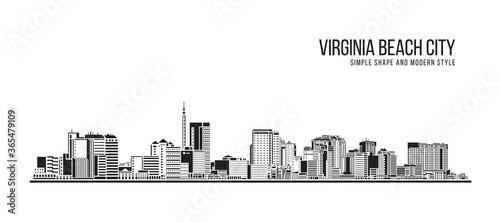 Fotografie, Obraz Cityscape Building Abstract Simple shape and modern style art Vector design - Vi