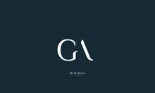 Alphabet Letter Icon Logo GA O...