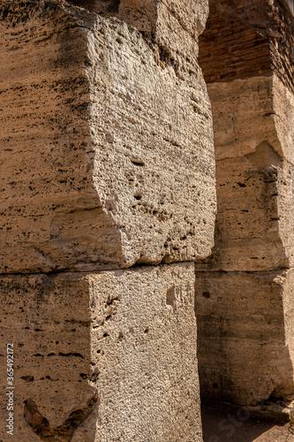 głazy konstrukcyjne rzymskiego Coloseum Fototapete