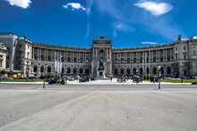 Imperial Palace Hofburg And Famous Square Heldenplatz In The Inner City Of Vienna In Austria