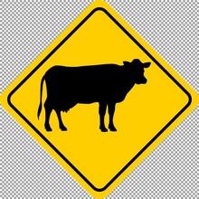 Cow Animal Wildlife Warning Pr...