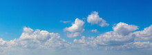 Panorama Of Blue Sky With Fluf...