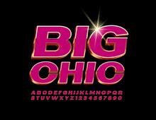 Vector Big Chic Glamour Alphab...
