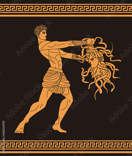 perseus with medusa head Canvas Print