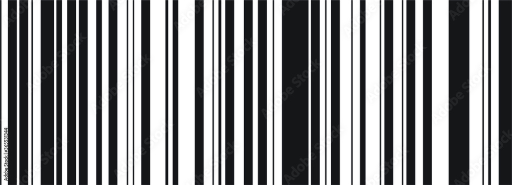 Fototapeta Barcode vector icon. Bar code for web design. Isolated illustration black and white