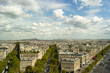 View of Paris in summer afternoon