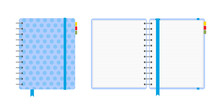 Blue Polka Dot Notebook, Close...