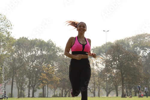 woman doing physical exercises Wallpaper Mural