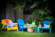 Colorful Outdoor Seating Area ...