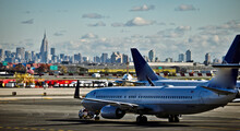 Runway With Manhattan In The B...