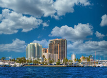 A Coastal Condo Building On The Intracoastal Waterway In Fort Lauderdale, Florida
