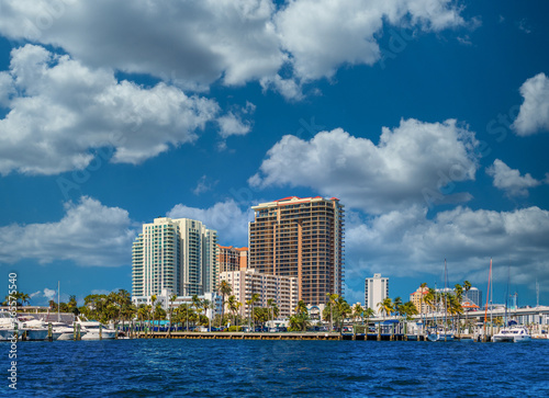 A Coastal Condo Building on the Intracoastal Waterway in Fort Lauderdale, Florid Wallpaper Mural