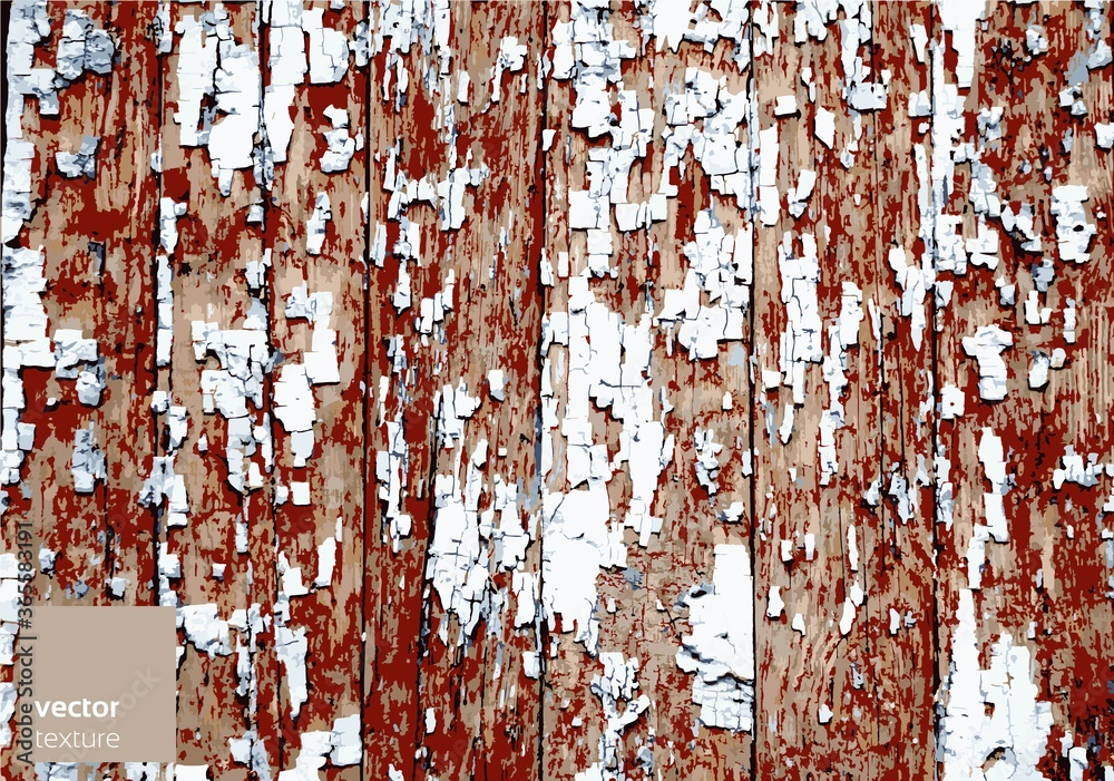 Fototapeta Vector wooden grunge texture background