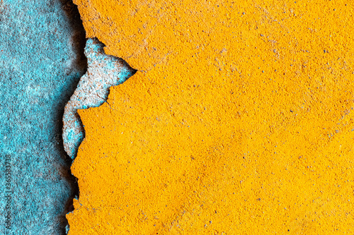 Fototapeta Worn grunge. Old rough stone on cement pattern wall background. Vintage grunge plaster or concrete stucco surface. Natural material abstract structure backdrop. obraz