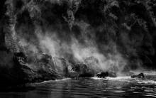 Monochrome Image Of Wildebeest...