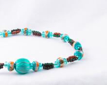 Multi-color Turquoise Bead Nec...