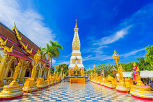 Wat Phra That Phanom Is The Sacred Precinct Of The Phra That Phanom Chedi, Located In The District Of The Same Name, In The Southern Part Of Nakhon Phanom Province, Northeastern Thailand.