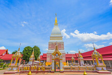 Pagoda Of Wat Phra That Renu In Renu Nakhon District, Nakhon Phanom Province,Thailand.
