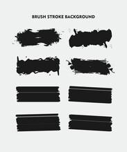 Black Brush Stroke Background ...