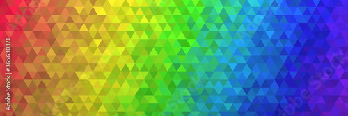 low poly background texture colored panorama rainbow 12000x4000pix Wallpaper Mural