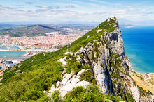 Aerial View Of Top Of Gibralta...